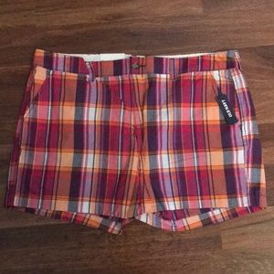 Plaid Old Navy Shorts Button Fly NWT